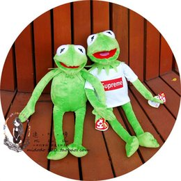 Wholesale Games Sesame - New 40cm Kermit Plush Toys Sesame Street Doll Animal Kermit Stuffed Toy Plush Frog Doll Baby Toy Christmas Birthday Gift