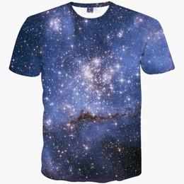 Wholesale Space Tee Cat - Space galaxy t-shirt for men women 3d t-shirt funny print cat horse shark cartoon fashion summer t shirt tops tees