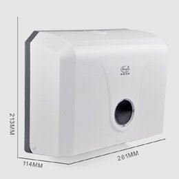 Wholesale Tissue Box Holder Wall Mount - Wholesale- Modern ABS Toilet Paper Holder Hotel Public Place Paper Tissue Box Wall Mounted Bathroom Accessories