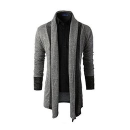 Wholesale Plus Size Sweater Coat - Sweater Men Brand Clothing Patchwork Cardigan Knitted Pullover Men Slim Fit Plus Size Men's Top Long Sleeve Sweater Coat