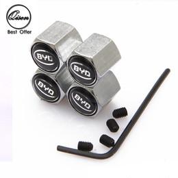 Wholesale Byd Car - Lockable Anti-Theft Dust Cap Tire valve caps With Car Logo Badges Emblems for BYD BLACK