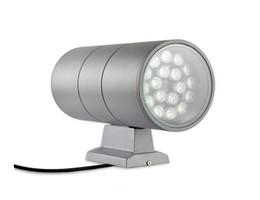 Led vatio spot online-Lámpara de montaje en pared LED de 36 vatios HACIA ABAJO ABAJO Cilindro de luz lateral Aluminio Columbia Exterior Impermeable IP65 Spot Lights Lampara Rojo Verde