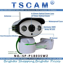 Wholesale Wireless Ip Camera Zoom Outdoor - TSCAM SP-P1803SWZ Full HD 1080P 2.0MP PTZ ONVIF Wireless Wifi IP Camera Outdoor Pan Tilt Zoom 6-22mm with Micro SD Card Slot