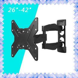 Wholesale Flat Wall Bracket - LCD MLED TV Monitor Wall Mount Bracket Full Motion Tilt & Swivel 26 27 32 36 37 40 42 inch 01
