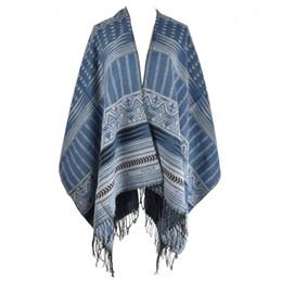 Wholesale Elegant Winter Scarf Woman - Designer Women Stripes Pashmina Scarf Tassel Shawl Soft Winter Warm Elegant Comfortable Christma Simple High Quality SF856