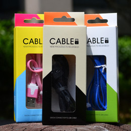Wholesale Packaging Box Tablet - Cable Retail Package Box Empty Paper Packaging Boxes For Android iOS Smart Phone Tablet 1M 2M Micro USB Charger Cable iPhone 6 6S 7 8