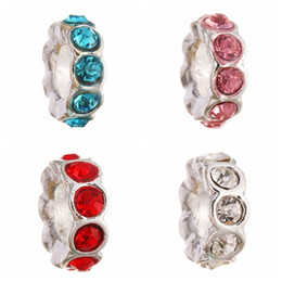 Wholesale Cross Form - DIY accessories Alloy big hole beads tail ring form loose bead loose beads fit for Snake Chain beads necklace diy jewellrys