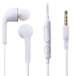 Wholesale Microphone Galaxy S3 - Hot selling Earphone handsfree with Mic For Samsung GALAXY S3 S4 Note Note3 N7100 MobilePhone earphone with Microphone