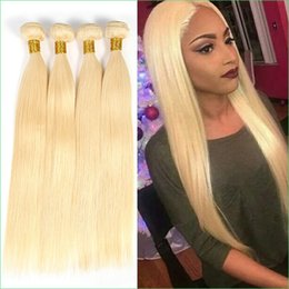 """Wholesale Silky Straight Remy Blonde Weave - 613 Light Blonde Indian Remy Hair Extension,Luxury Double Drawn Platinum Blond Indian Silky Straight Virgin Hair Weave Bundle 8-30"""" 3Pcs Lot"""