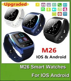 Wholesale Newest Watch Mobile Phone - Newest Smart Bluetooth Watch Smartwatch M26 with LED Display Barometer Alitmeter Music Player Pedometer for Android IOS Mobile Phone SB-M26