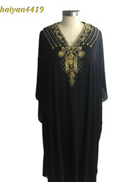 Wholesale Photo Clothes Women - 2017 Cheap Long Arabic Islamic Clothing for Women Abaya in Dubai Kaftan Muslim Arabic Evening Dresses V Neck Chiffon Beads Party Prom Gowns