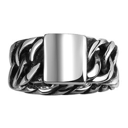 Wholesale Vintage Rare - Vintage Men Stainless Steel Ring Handmade Rare Stylish Christmas Halloween Gifts Free Shipping Size 8 9 10 11 GMYR095