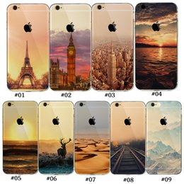Wholesale Clear Back House Iphone - Landscape Scenery Case For coque Iphone 5 5S SE 6 6S Mountain House Trees Sea Cat Nature View Soft silicone Back Case cover