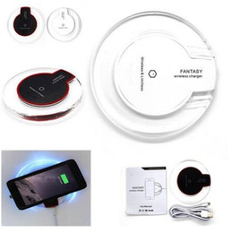 Wholesale Qi Transmitter - Qi Wireless Charger Transmitter Pad Wireless Charging Mat For Samsung Galaxy S8 7 6 5 4 for iPhone 8 7 6S 6 Plus
