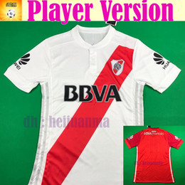 Wholesale Soccer Jersey River - 2018 Player Version RIVER PLATE Home jersey soccer 2017 River Plate AWAY red MORA LOLLO LARRONDO Football shirt