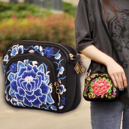 mini sac en chine Promotion Sac à bandoulière national sac à bandoulière brodé Sac Lady cross body bags Sacs à rabat national ethnique style China Vintage Purse