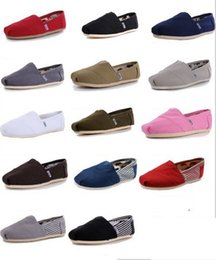 Wholesale Espadrille Men - hot brand new women men canvas shoes flats loafers casual single Ultra-light sneakers Driving shoes unisex tom espadrille Walking shoe