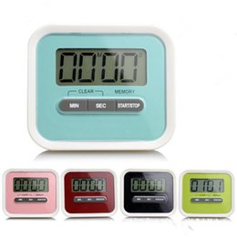 Wholesale Kitchen Cooking Alarm Clock - Portable Useful Timer Kitchen Cooking 99 Minute Digital LCD Alarm Clock Medication Sport Countdown Calculator timers with Clip Pad