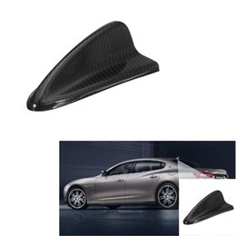 Wholesale Antenna Fins - Carbon Fiber Shark Fin Top Roof Antenna Base FM For BMW E90 E92 E46 E60 E39 Rear 16.3 cm x 8.3 cm x 5.8 cm