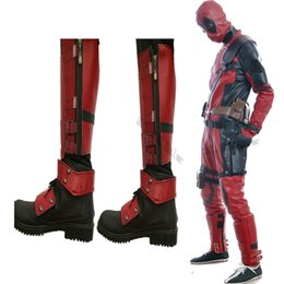 Argentina HOT Anime Movie X-men Deadpool Cosplay Accesorios de disfraces Botas Zapatos por encargo Halloween Chrismas Accesorios de dibujos animados Suministro
