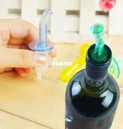 Wholesale Bar Pour Spouts - 4 pcs Lot Wine Oil Alco Bar Liquor Free Pour Bottle Spout Stopper Pourer Topper Set