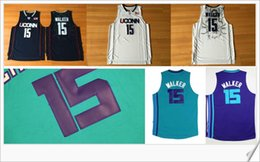 Wholesale Uconn Basketball - Uconn Huskies Charlotte #15 Kemba Walker College Stitched Embroidery Sports basketball Uniforms Throwback Shirts Vest Mens Team Pro Jerseys