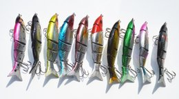 Wholesale New Jointed Minnow Lures - New Arrival 2016 Jointed Minnow Sea Fishing Lure Artificial 5 Segments Fish Hard Lures Bait 12cm 21g