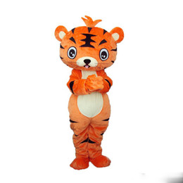 Wholesale Tiger Costumes Free Shipping - Adult Size ferocious Animal Tiger Cartoon Mascot Costume Party Fancy Dress Free Shipping