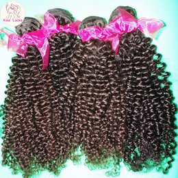 Wholesale Cheap Good Remy Hair - Cheap Good Quality Brazilian Kinky Curly Virgin Hair Unprocessed 8A Thicker Bundles 3pcs lot Quick Shipping