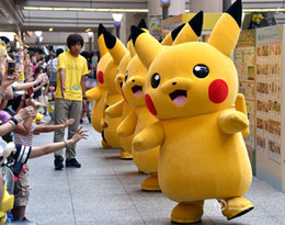 Wholesale Costume Characters For Sale - Hot Sale 2016 Pikachu Mascot Costume Popular Cartoon Character Costume For Adult Pikachu Fancy Dress Party Suit