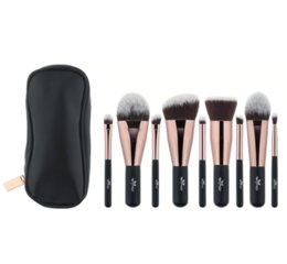 Комплект для кисти для путешествий онлайн-Anmor прекрасный путешествия 9 шт. макияж кисти набор синтетических мини макияж кисти с мешком Mbc03 косметические кисти макияж инструменты Kit