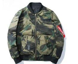 Wholesale U S Jacket - yeezus Tide Brand baseball jacket kanye west skate board Double sided camouflage MA1 Lovers Air Force pilot jacket hip hop autumn baseball u