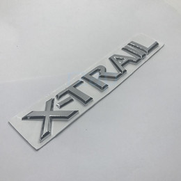 Wholesale Chrome Auto Letters - 3D Car Rear Emblem Badge Chrome X Trail Letters Silver Sticker For Nissan X-Trail Auto Styling