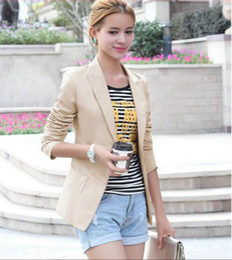 Wholesale Women Blazer Cuff - Blazer Feminino fashion Women Suit Blazer Turn Back Cuff Jacket Blazers Long Sleeve Slim Office Ladies Suits Outerwear Women's Coats S -XXL