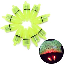 Wholesale Fishing Bait Tips - Wholesale- 10 Pcs lot New Arrival Fishing Rod Tip LED Light Bells Alarm Clip Night Bite Ring Fish Bait Alarm Fishing Tools Wholesale
