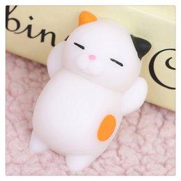 Wholesale Squishy Original - 2017 New Kawaii Squishies Original Japan Lazy Cat Mochi Decompress Squishy Squeeze Cat Healing Toy Mini Gifts Free Shipping