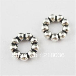 Wholesale Ring Spacers - HOT 400Pcs Antiqued Silver Tone Dots Ring Spacer Beads Charms 11mm B733 DIY Metal Jewelry