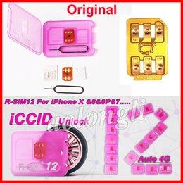 Wholesale Original Iphone Unlock - Original R-SIM 12 RSIM12 unlock card for iPhone X ios11 rsim 12 rsim12 unlocking iphone8 8p 7 7P 6 6S IOS 11-10.x 4G CDMA SB AU SPRINT