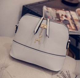 Wholesale Padded Flower Appliques - New Women Shell Shoulder Bags Casual PU Fashion Ladys Crossbody Messenger Bag Buckle Pad Phone Money Wallet Handbags Top Quality
