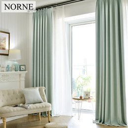 Wholesale Linen Blinds - NORNE Solid Faux Linen Blackout Curtain Thermal Insulated Drapes Noise Blocking Window Curtains Blinds for Bedroom Living Room