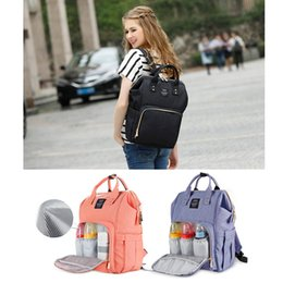 Wholesale Baby Diaper Bags Backpacks - Mommy Baby Diaper Bag Travel Backpack Handbag High-capacity 12 Colors Option Nappies Mother Bags Keep Warm For Feeding Bottle