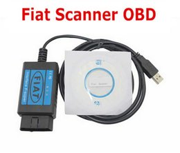 Wholesale Diagnostic Scan Tools For Fiat - Wholesale-Newest Profession Fiat Scanner OBD  OBD2 Diagnostic Usb Cable Fiat Interface USB Scan Tool For Fiat USB Fiat Scanner Tester