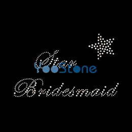Canada Le plus récent Hot Fix Sexy Bridesmaid Rhinestone Iron On Transfers Hotfix Motif pour Girl Tshirt 20pcs / lot tshirt transfers deals Offre