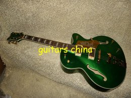 Wholesale Green Electric Jazz Guitar - NEW Custom Shop Green Falcon Hollow Jazz Electric Guitar OEM guitar free shipping