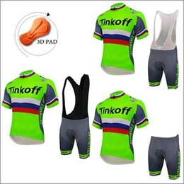 Ciclismo tinkoff online-2016 Tinkoff New Fluo Green Cycing Jersey de manga corta Ropa Ciclismo / Ropa de ciclismo / Mountain MTB Cycle Clothes Maillot Ciclismo Tamaño XS-4XL