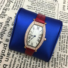 Wholesale Female Tops Sale - 2017 Hot Sale lady watches Genuine leather Women watch Diamonds Bracelet Wristwatches female clock famous brand free shipping Top Quality