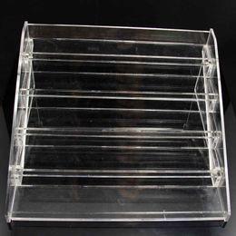 Wholesale clear display rack - 5 Layer E Liquid Acrylic Display Stands Clear Holder For Ecig Store 5ml 10ml 15ml 20ml 30ml Vape Juice Bottles Show Shelf Racks