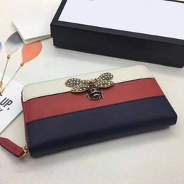 Wholesale Heart Phone Holder - rivets Long Wallet Card Money Holder Clutch Purse Designer Wallets Phone Pocket men women red heart passport card credit purses wallet bag