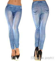 Wholesale Cowboy Leggings - G50 2016 Fitness Women Seamless Jeggings Cowboy Wearing Pocket Zipper Print Leggings Print Punk Pants Leggings