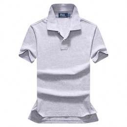 Wholesale Slimming Shirts - Free shipping 2018 summer high quality men's Polo shirt men's short sleeves leisure fashion polo men's solid color Polo shirt size S-XXL